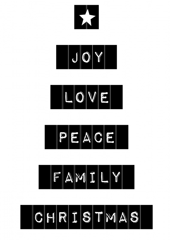 Joy, love, peace, family