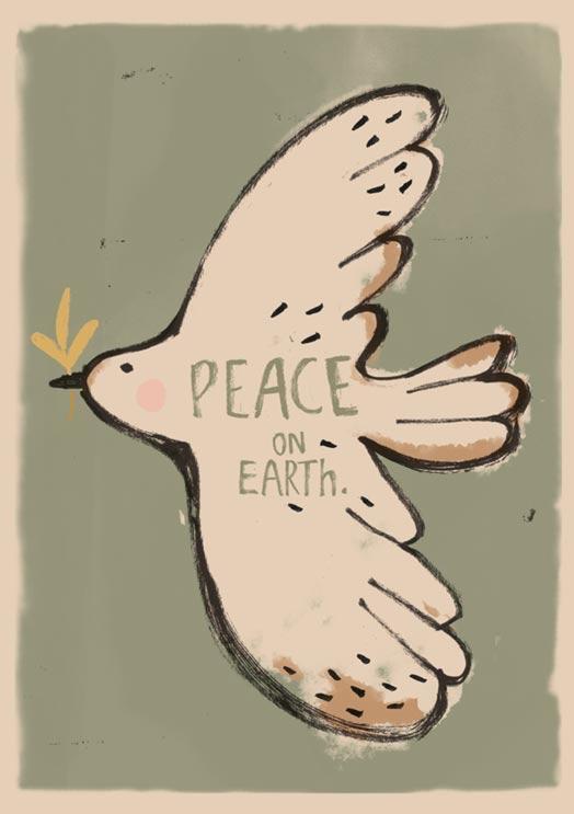 Poster peace bird