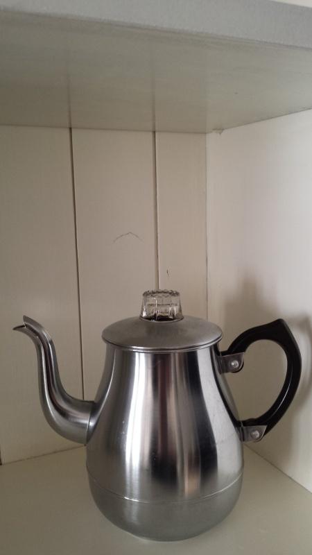 Oude brocante koffiepot