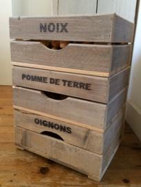 Kistjes van hout stapelbaar