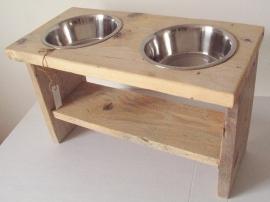 Hondeneetbak standaard van steigerhout