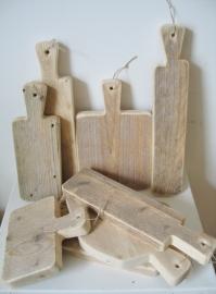 Presentatieplankjes van steigerhout