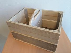 Kistjes met handvat en vakverdeling