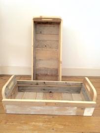 Picknickkistje van sloophout