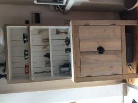 Buffetkast van steigerhout en sloophout