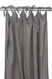 MrsBLOOM Linen Curtain dark grey 140x260