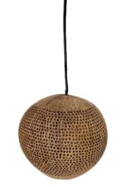 Kokosnoot hanglamp met kleine dots