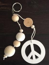 Sleutelhanger - Key mala peace wit - madumadu