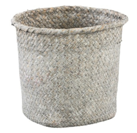 Cesto grey round seagrass Basket XL - PTMD