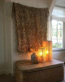 Rotan staande lamp fine webbing blond 58x30