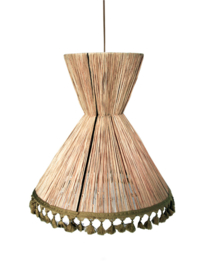 Honoré hanglamp Pompoms raphia XL
