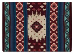 Alpaca Loca plaid native wine red
