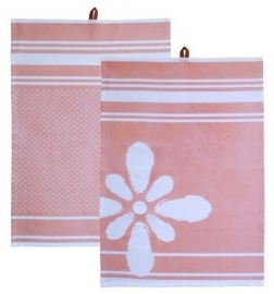 Kiem - Tea Towel theedoek - Hamam Blossom - set van 2