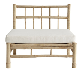 TineKhome Bamboo lounge module chair - white cushion