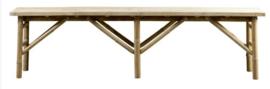 Bamboo bench 170x35x45 cm natural - TineKhome