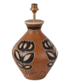 Terracotta Lampvoet vaaslamp tulp