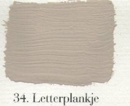 L'Authentique krijtverf - nr. 34 - Letterplankje