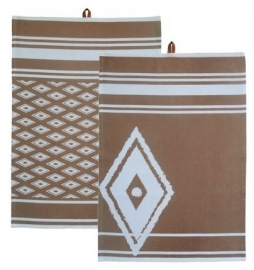 Kiem - Tea Towel theedoek - Hamam Sand - set van 2