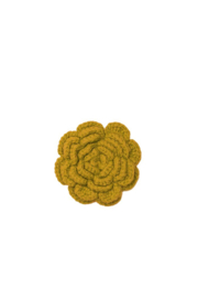 Zilch Broche bloem mustard