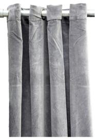 MrsBLOOM gordijn vintage velvet gordijn grey 135x260