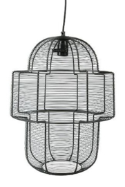 MrsBloom Wire Hanging Lamp M Black