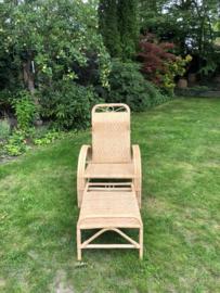 Rotan tuin ligstoel