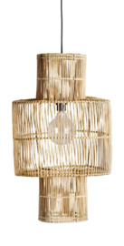 TineKhome Hanging lamp shade in rattan hang bird
