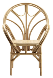 TineKhome Kosdine Dining chair in rattan with armrest