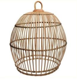 Hanenmand lamp bamboe strook  baleinen Small Manggis