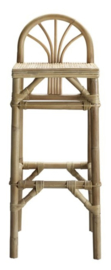 Bar stool in rattan with low back rest - TineKhome