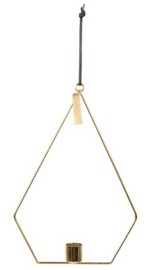 Mrs Bloom Hanging Pyramid Candle holder antique gold