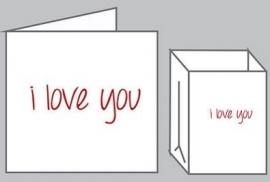 Wenskaart met lichtzakje - I Love You - Tindra