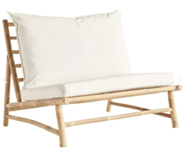 TineKhome Bamboo lounge chair with cushions