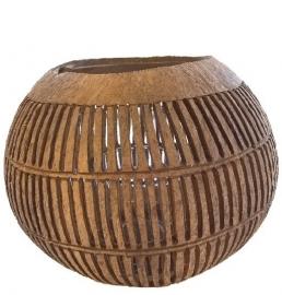 Theelicht Kokosnoot stripe verticaal - Manggis