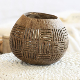 Waxinelichthouder Kokosnoot ruit- Manggis