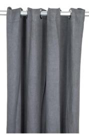 Gordijn linnen Denise dark grey 140 x 290 - MrsBLOOM