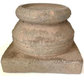Brynxz sobere poer kandelaar old brown 18 cm