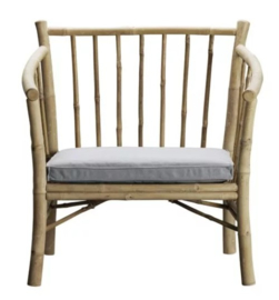 TineKHome Lounge chair in bamboo with grey mattress