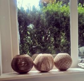 Waxinelichthouder Kokosnoot boog - Manggis