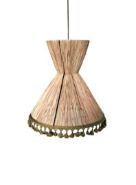 Honoré hanglamp Pompoms raphia L