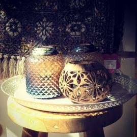 Waxinelichthouder Kokosnoot bloem- Manggis