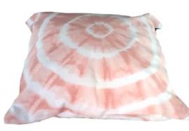 Kussen batic dye - roze