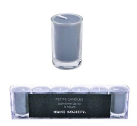 Home Society Votive Candles Grey