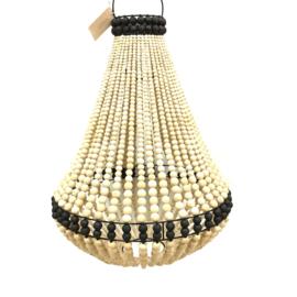 Hanglamp Hanneke naturel - zwart