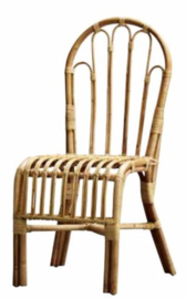Rotan eetkamerstoel- Dining chair in rattan, no arm rest  - TineKhome