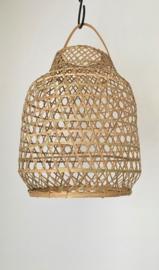 Hanenmand lamp bamboe gevlochten Small Manggis