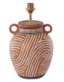 Terracotta Lampvoet kruiklamp African Kuba