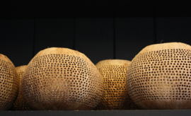 Waxinelichthouder Kokosnoot  dot - Manggis