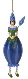 Meander Blauw druifje meisje hanger