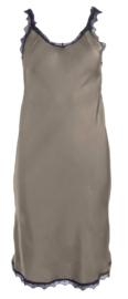 Strappy satin dress army grey 71673-10 - Transfer